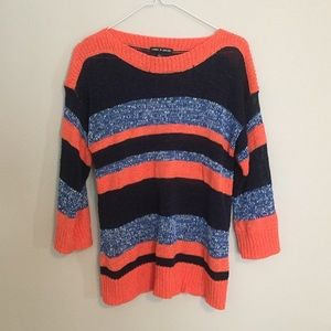 BOGO Cable and Gauge Striped Sweater